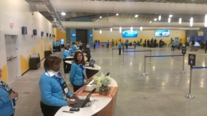 The check-in process is supposed to be one of the fastest. Passengers are supposed to go from curbside to ship in ten minutes or less.