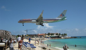 St. Maarten's Maho Bay is a must-visit. The Princess Juliana Airport runway is less than one hundred feet from the beach.