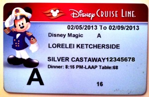 Besides taking in the warm weather, the guests' stateroom key cards are too warming up.
