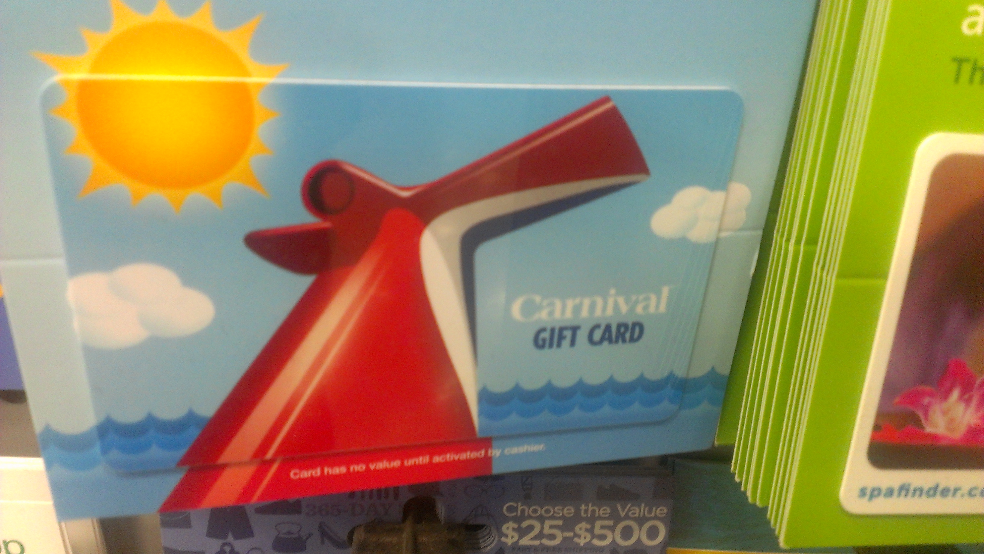 carnival cruise gift card discount